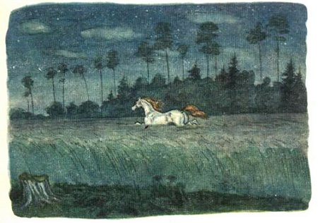 The Firebird folktale's White Horse